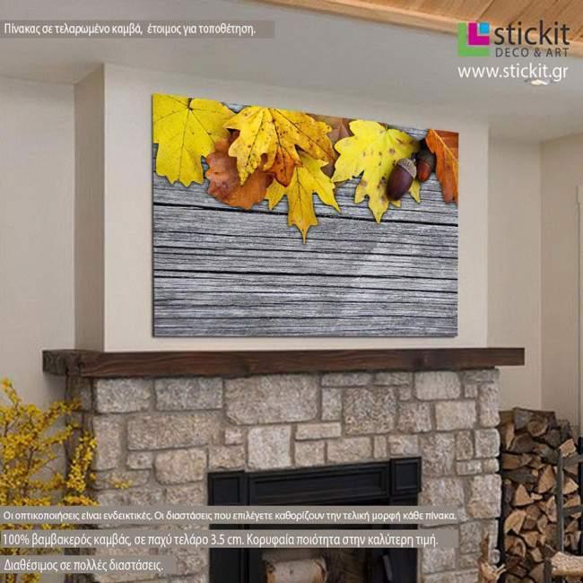 Πίνακας σε καμβά Maple and oak leaves