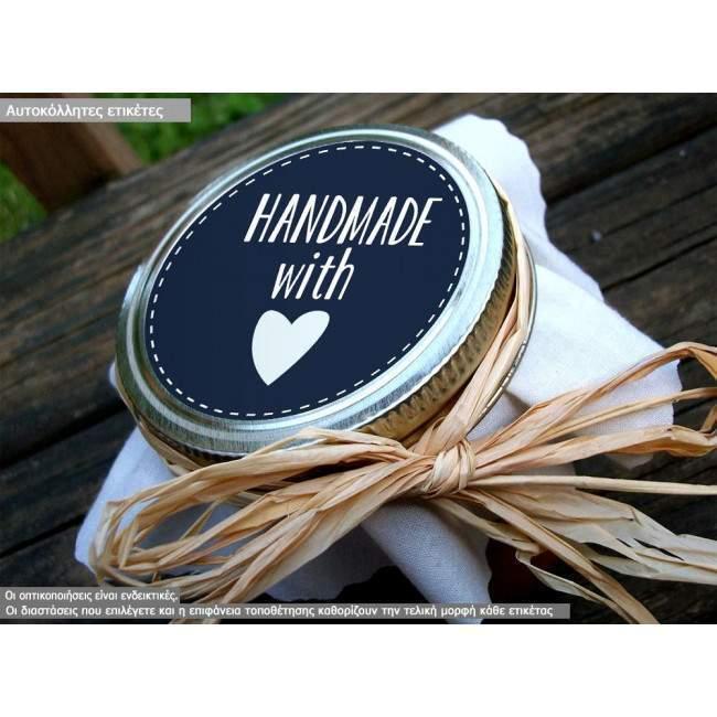 Αυτοκόλλητη ετικέτα Hand made with love