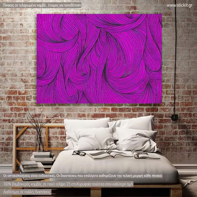 Canvas print Mauve curly
