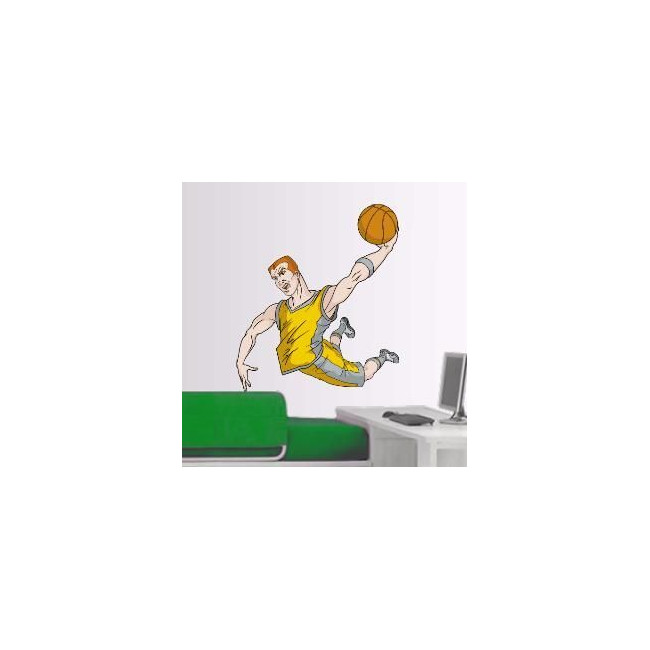 Αυτοκόλλητο τοίχου Μπασκετ κάρφωμα 6