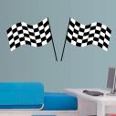 Αυτοκόλλητο τοίχου Σημαίες τερματισμού
