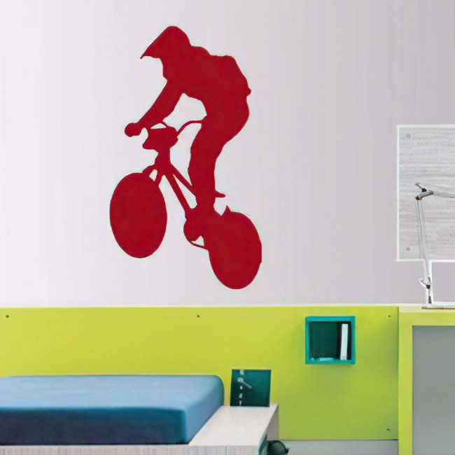 Αυτοκόλλητο τοίχου BMX Ποδηλάτης 1
