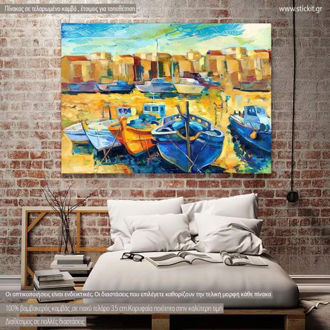 Canvas print Wharf