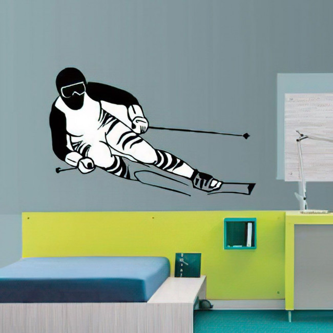 Wall stickers Skier