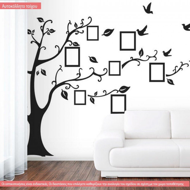 Wall stickers Tree with photo frames
