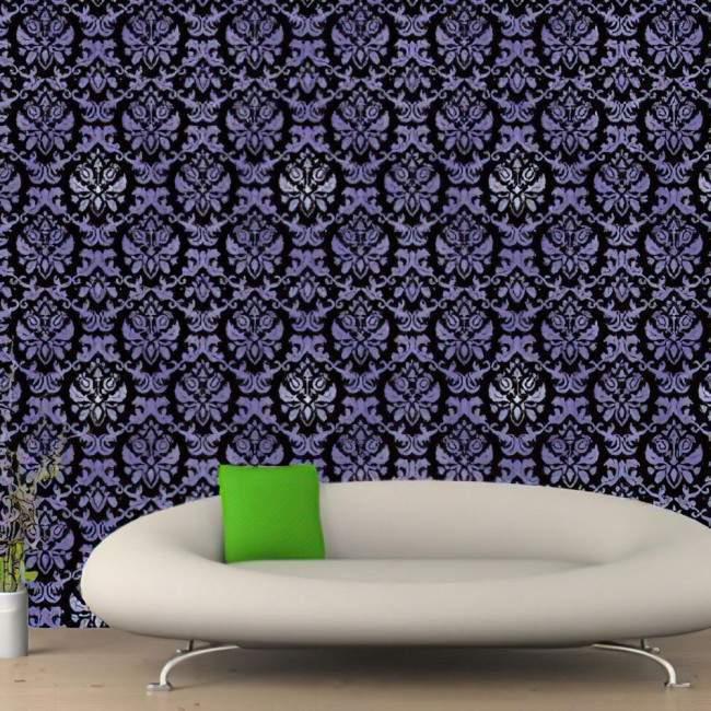 Ταπετσαρία τοίχου Τρισδιάστατο μοτίβο σε μαύρο - μωβ