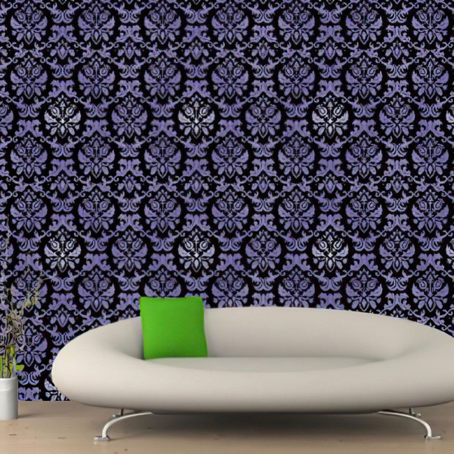 Wallpaper Three - dimensional pattern in black and purple