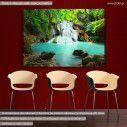 Πίνακας σε καμβά Καταρράκτης, Huay mae kamin waterfall