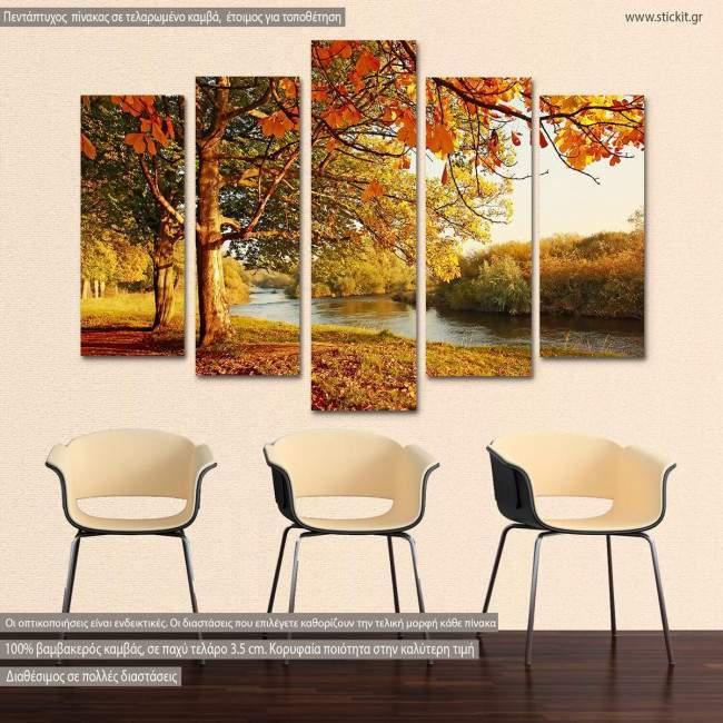 Πίνακας σε καμβά Beautiful autumn, πεντάπτυχος