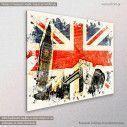 Canvas print London artwork, side