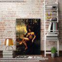 Πίνακας ζωγραφικής Saint John the baptist, Leonardo da Vinci, αντίγραφο σε καμβά