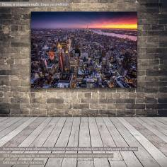Canvas printNew York, Top view of New York city