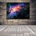 Πίνακας σε καμβά Nebula and galaxy