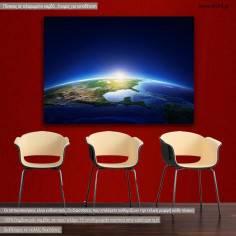 Πίνακας σε καμβά Γη από το διάστημα, Earth sunrise