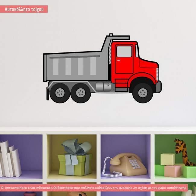 Αυτοκόλλητο τοίχου Φορτηγό