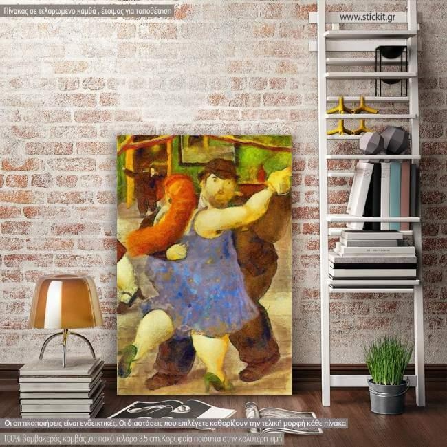Πίνακας ζωγραφικής Dancers reart (original by F. Botero), αντίγραφο σε καμβά