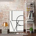 Πίνακας σε καμβά Love (vertical)