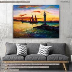 Πίνακας σε καμβά λιμάνι, Harbor