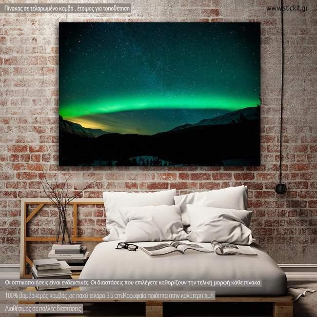 Πίνακας σε καμβά Βόρειο Σέλας, Northern Lights