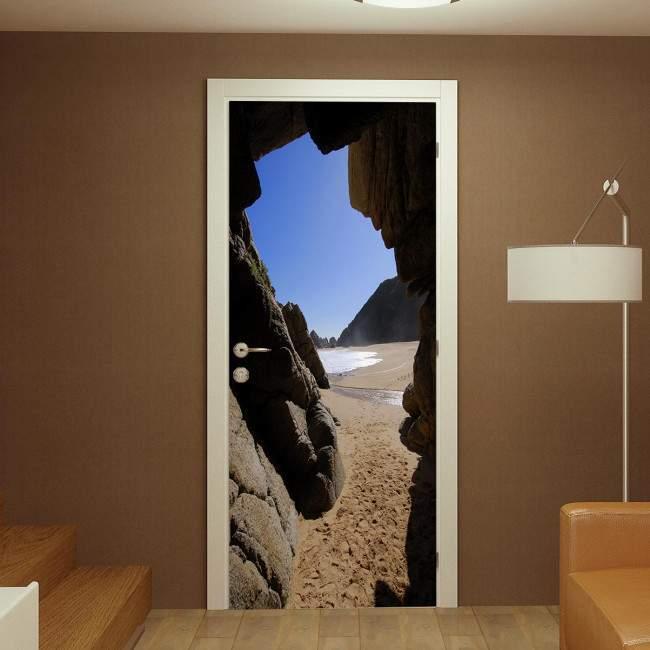Door sticker Cave