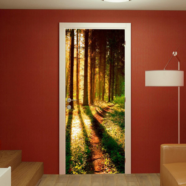 Door sticker Forest light