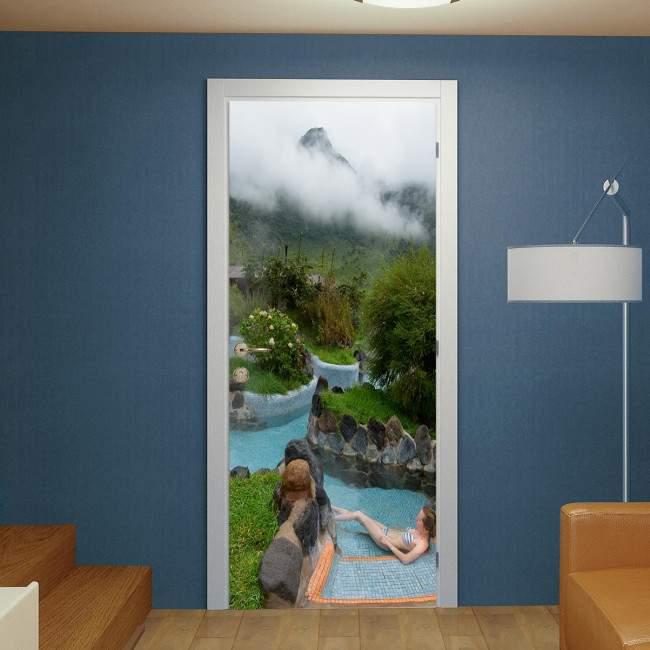 Door sticker Highland spa resort