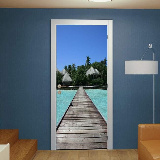 Door sticker Maldives