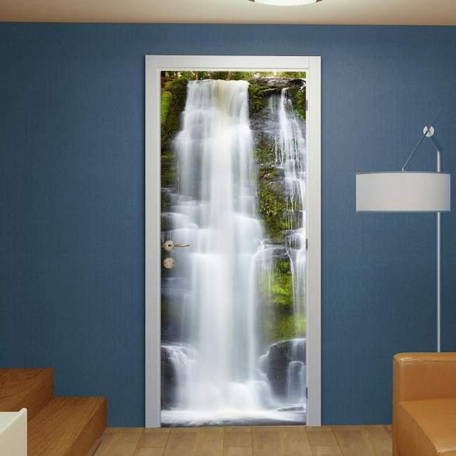 Αυτοκόλλητο πόρτας Mclean Falls, New Zealand