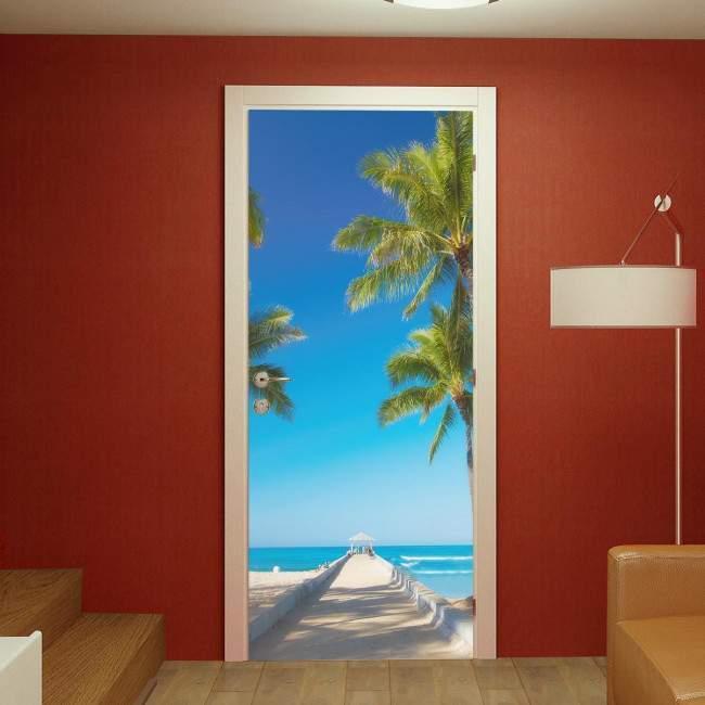 Door sticker Sunny Beach