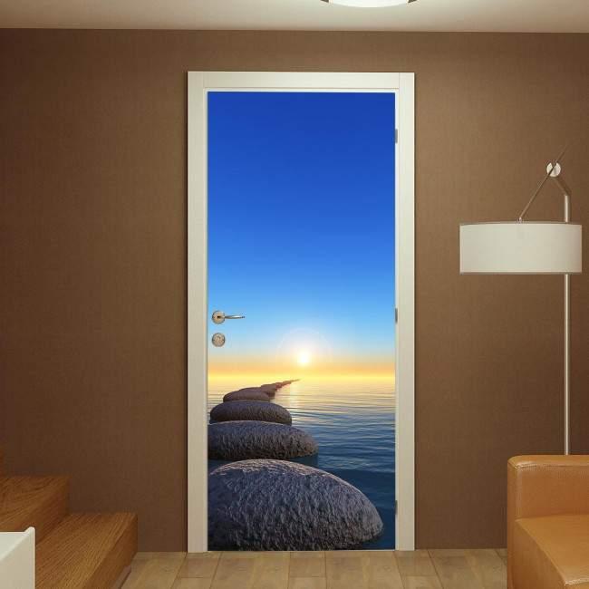 Door sticker Rock and sunrise