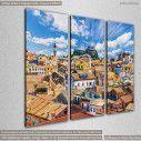 Πόλη της Κέρκυρας, τρίπτυχος πίνακας σε καμβά, κοντινό