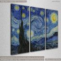 Starry night, Vincent van Gogh, τρίπτυχος πίνακας σε καμβά, κοντινό