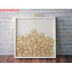 Frame with hearts wooden wishes board
