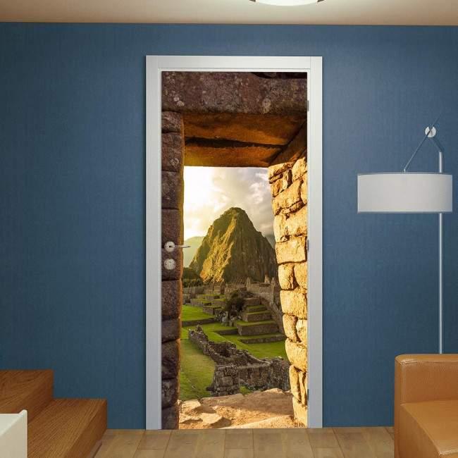 Αυτοκόλλητο πόρτας Machu Picchu