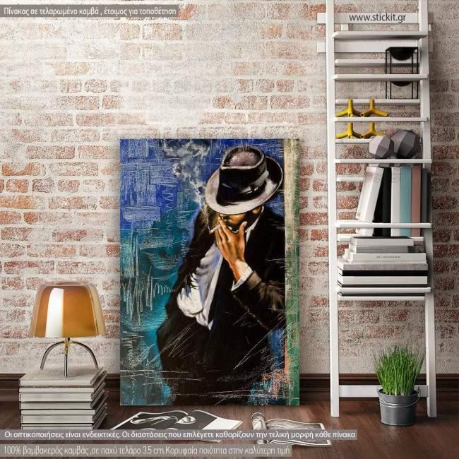 Canvas print Portrait of the man with a cigarette