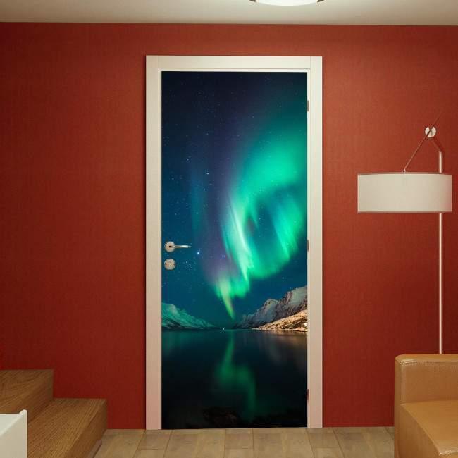 Αυτοκόλλητο πόρτας Northern Lights