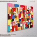 Canvas print Abstract painting VIII, side