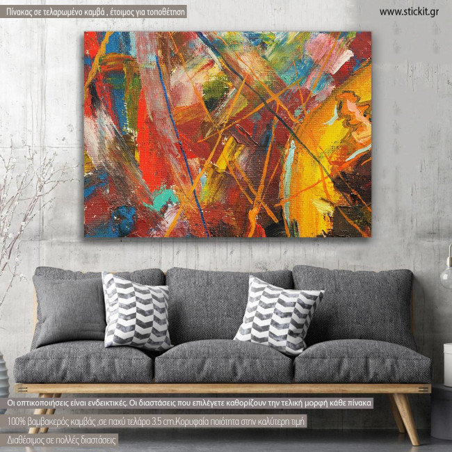 Canvas print Abstract painting XI