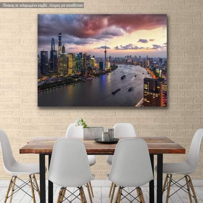 Πίνακας σε καμβά Σανγκάη, Shangai aerial