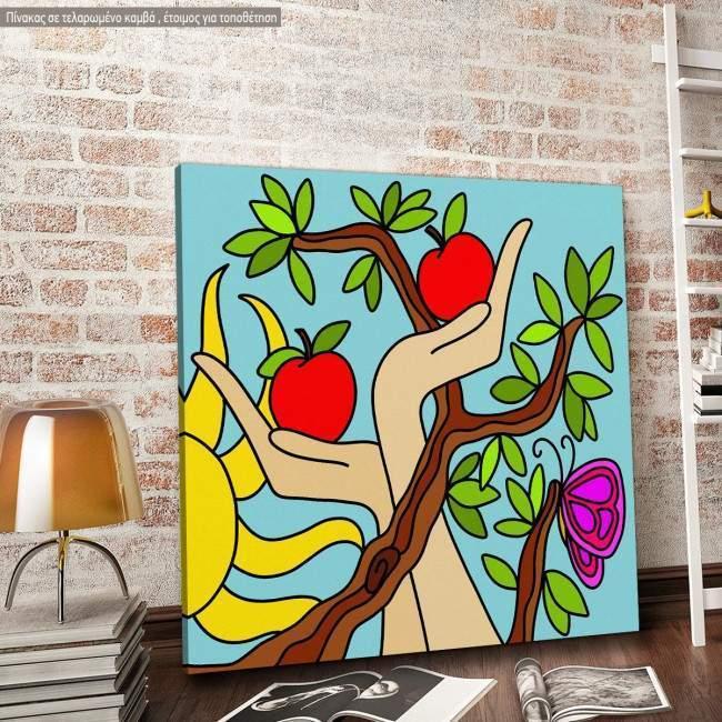 Πίνακας σε καμβά Apple tree
