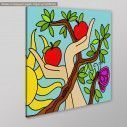 Canvas print Apple tree, side