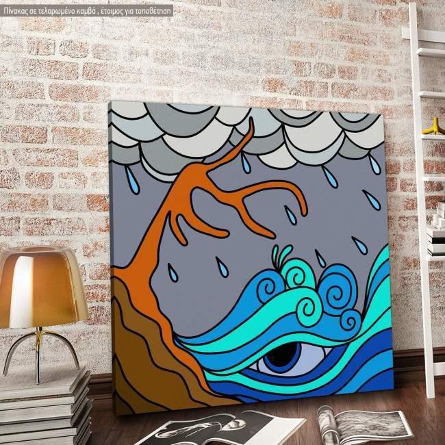 Πίνακας σε καμβά Thunderstorm