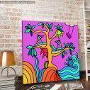 Πίνακας σε καμβά Fantasy Tree
