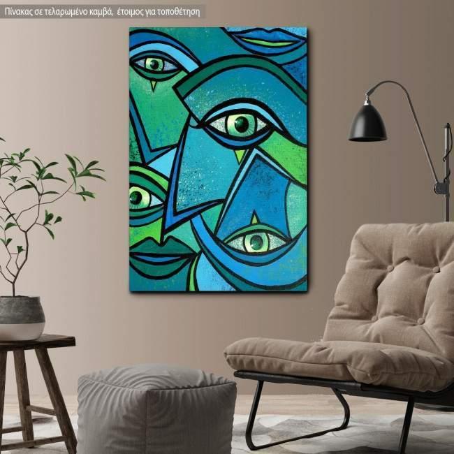 Πίνακας σε καμβά Abstract eyes II