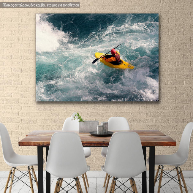 Canvas print, Canoe Kayak Athlete