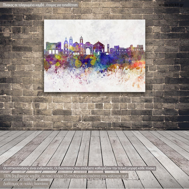 Canvas print Rhodes panorama