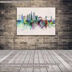 Canvas print London panorama