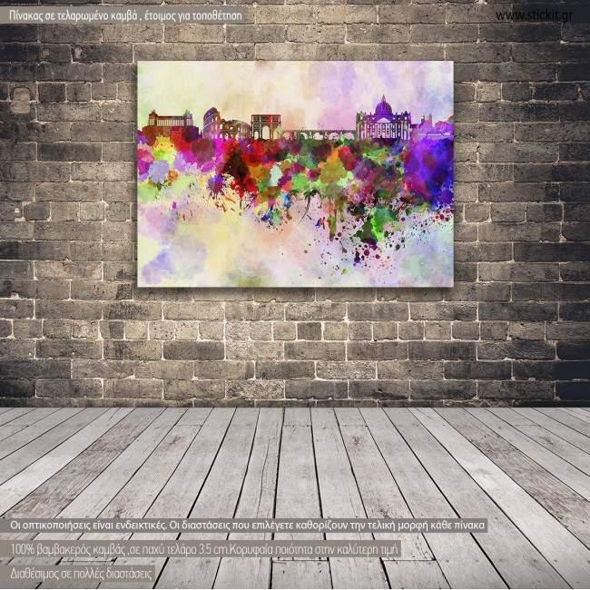 Canvas print Rome panorama