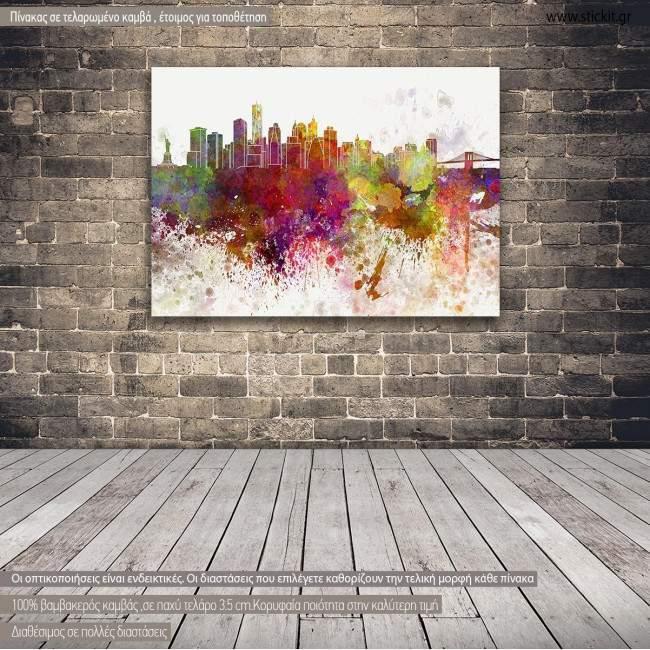 Πίνακας σε καμβά Νέα Υόρκη πανόραμα