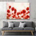 Canvas print Poppies, Poppy field